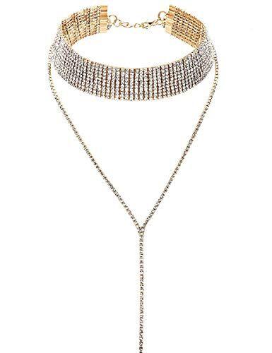 LATH.PIN Collana Girocollo da Donna Moda Accessori di Gioielleri Collana Set Necklace Club Jewelry Regalo per Natale Anniversario (B)