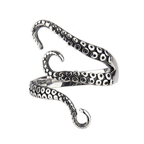 Beauty7,anello con tentacolo di piovra, moda trendy punk, per feste, accessorio gotico, anello da dito con piovra dalle profondit marine