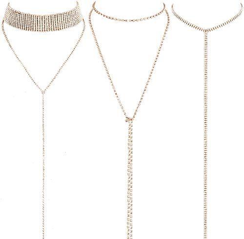 LATH.PIN Collana Girocollo da Donna Moda Accessori di Gioielleri Collana Set Necklace Club Jewelry Regalo per Natale Anniversario (Set 3 B)