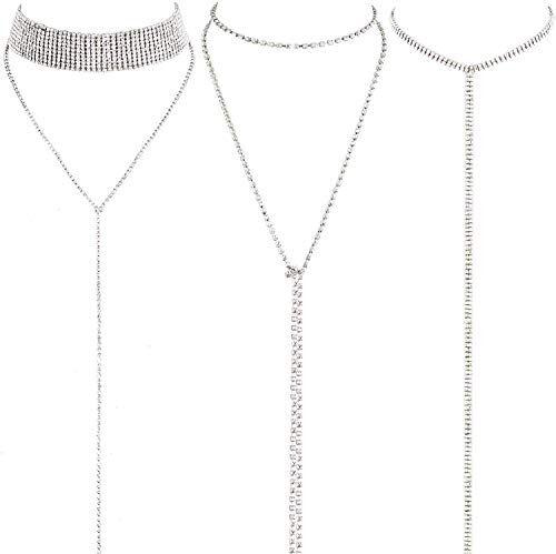 LATH.PIN Collana Girocollo da Donna Moda Accessori di Gioielleri Collana Set Necklace Club Jewelry Regalo per Natale Anniversario (Set 3 A)
