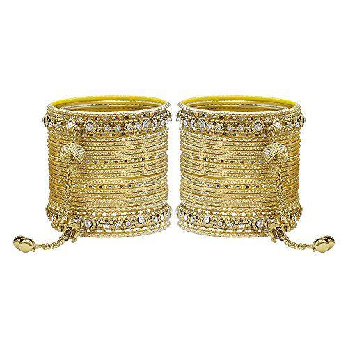 More MUCH-MORE - Braccialetti rigidi con ciondolo Latkan, splendida collezione alla moda, per donne e ragazze e base metal, colore: dorato, cod. GB-23