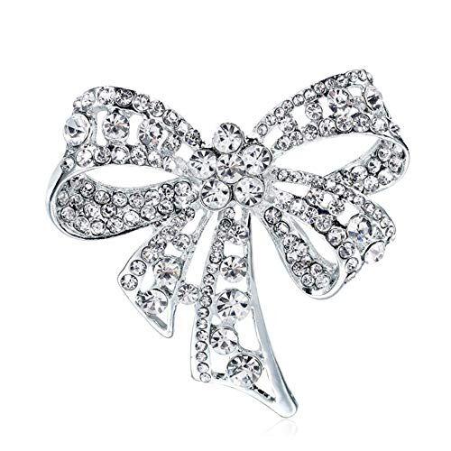 gotyou Diamante Spilla Fiocco Strass Boutonniere,Spilla Vintage Bowknot Spilla per Le Donne, Spille Fascia Decorata,Abbigliamento Donna Gioielli di Moda