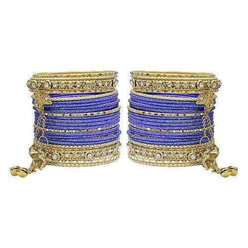 More MUCH-MORE - Braccialetti rigidi con ciondolo Latkan, splendida collezione alla moda, per donne e ragazze e base metal, colore: Blu, cod. GB-23