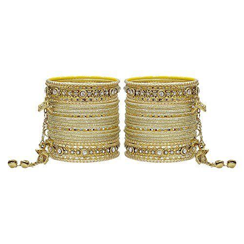 More MUCH-MORE - Braccialetti rigidi con ciondolo Latkan, splendida collezione alla moda, per donne e ragazze e base metal, colore: crema, cod. GB-23