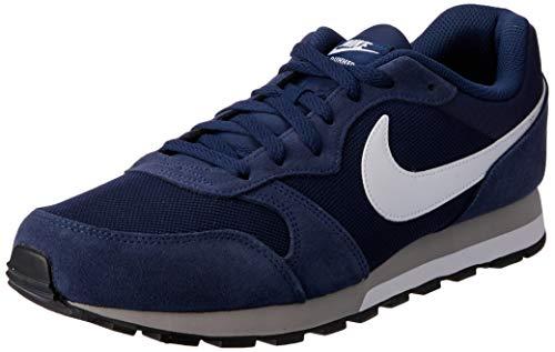 Nike MD Runner 2, Scarpe da Running Uomo, Blu (Midnight Navy/White-Wolf Grey), 39 EU