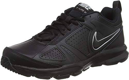 Nike T-Lite XI, Scarpe da Ginnastica Uomo, Nero (Black/Black-Metallic Silver), 45 EU (10 UK)