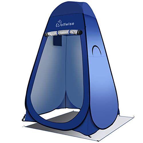 wolfwise tenda ad apertura istantanea pop-up campeggio spiaggia bagno spogliatoio doccia riparo privato all'aperto blu