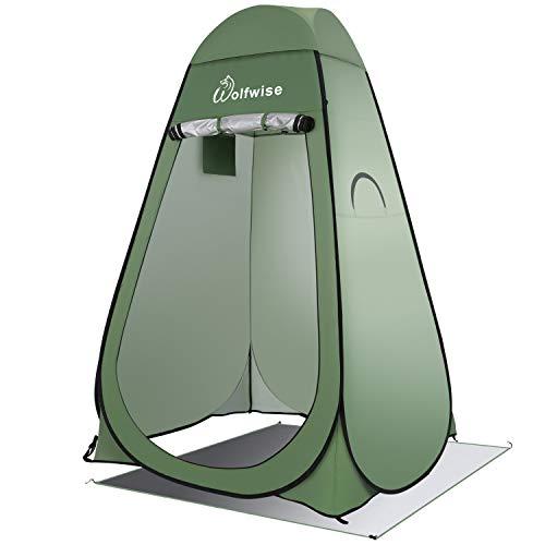 wolfwise tenda ad apertura istantanea pop-up campeggio spiaggia bagno spogliatoio doccia riparo privato all'aperto green