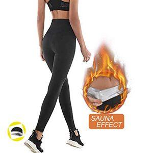 NHEIMA Pantaloni Sauna Dimagranti, Leggings Anticellulite Donna Fitness, Legging Termici Vita Alta in NANOTECHNOLOGIE per Sudar- Effetto Snellente e Push Up  Ideale per Yoga Corsa Palestra Sport