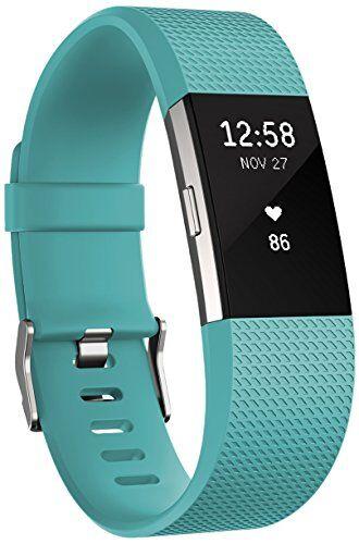 Fitbit Charge 2, Braccialetto per Fitness e Battito Cardiaco Unisex-Adulto, Verde Acqua, Large