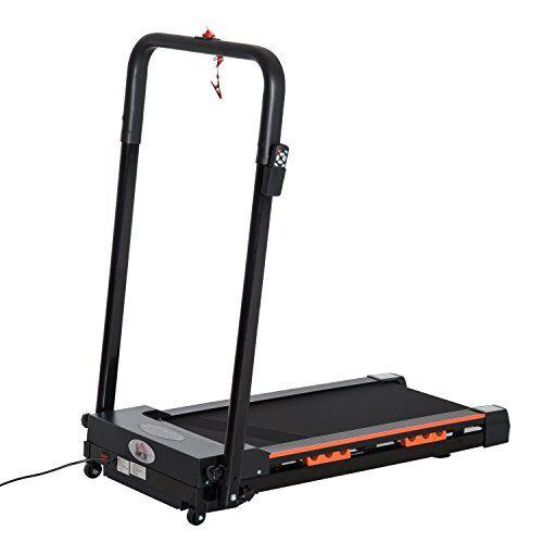 homcom tapis roulant elettrico pieghevole salvaspazio con telecomando potenza 0.5hp, 101 x 54 x 105cm