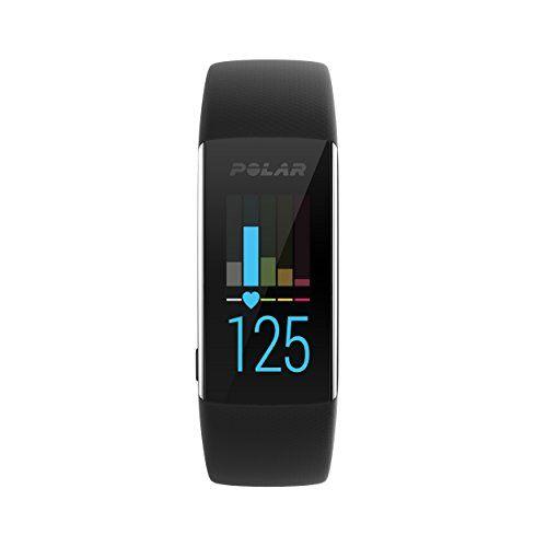 polar a370, activity tracker per fitness, monitoraggio attivit fisica con cardiofrequenzimetro integrato, display touch screen unisex-adulto, nero, m/l