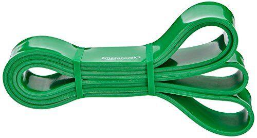 amazonbasics - fascia elastica di resistenza e per trazioni alla sbarra, 13.6 a 27.2 kg (1.9 cm di larghezza)
