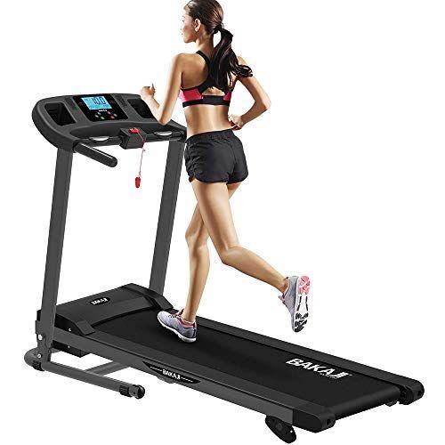 bakaji tapis roulant elettrico pieghevole allenamento cardio fitness palestra velocit massima 10 km/h inclinazione manuale con mp3 player e casse integrate