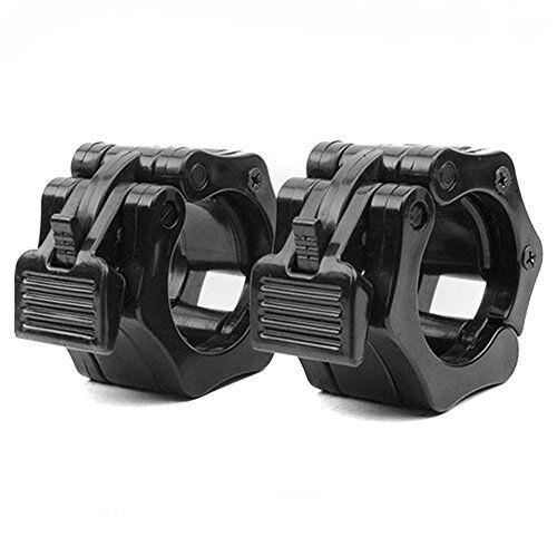 Grofitness Barbell Collar serrature 2,5 cm/5,1 cm bar morsetto crossfit sollevamento pesi Quick Release Lock jaw, 1 paio, 28mm inner dia