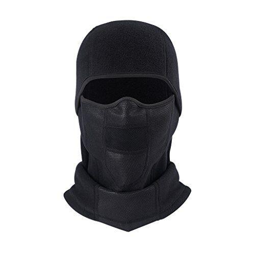 arcweg maschera viso/scaldacollo/passamontagna da uomo e donna antivento e multifunzionale da sci moto bici nero(passamontagna#2)