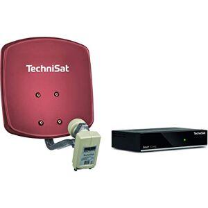 TechniSat DigiDish 33 - Impianto Completo (Twin) con Digit S3 HD, Cavo da 10 m, Colore: Rosso