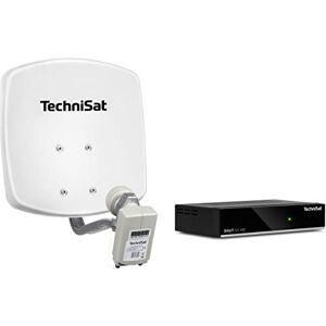 TechniSat DigiDish 33 - Impianto Completo (Twin) con Digit S3 HD, Cavo da 10 m, Colore: Bianco