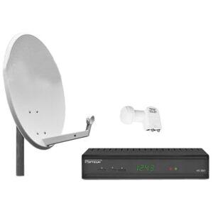 Opticum 2Componenti impianto completo HD S60(2X HD Ricevitore satellitare digitale, Twin LNB e 60cm Antenna)