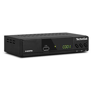 TechniSat HD-C 232 - Ricevitore HD per televisione digitale via cavo (HDTV, DVB-C, HDMI, SCART, USB 2.0, RF in, RF out, EPG, telecomando) nero