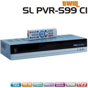 LS2 SL PVR-Disco S 99ricevitore satellitare digitale Twin (250GB, slot CI, interfaccia RS232, USB 2.0) argento/nero