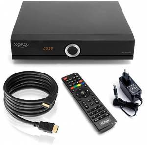 Xoro HRK 7672 - Ricevitore cavo HDTV Twin Tuner, HDMI, USB PVR Ready, S/PDIF Opt., MiniSCART, senza disco rigido SATA nel vano FF, 12 V, colore: Nero