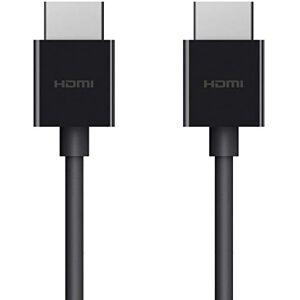 Belkin Cavo HDMI 2.0 Ultra HD 4K a 60 Hz, Dolby Vision HDR10+, 2 m (Certificato HDMI, ottimale per Apple TV), Nero