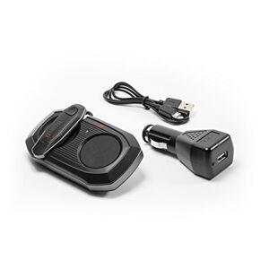 Technaxx 4576Bluetooth Car Kit con in Ear cuffie BT X30, Auto Bluetooth Vivavoce con rimovibile Nero