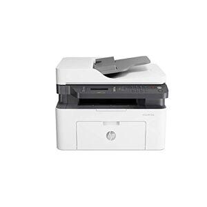 HP Laser MFP 137fnw Stampante Laser Multifunzione Monocromatica, Stampa, Scannerizza, Fotocopia, Fax, Wi-Fi, Wi-Fi Direct, ADF, Bianca