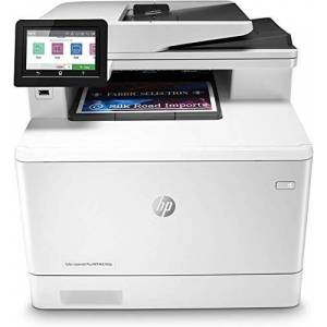 HP Color LaserJet Pro MFP M479fdn, Stampante Laser a Colori Multifunzione, Scanner, Fotocopiatrice, Fax, Wireless, ADF, Capacit Vassoi Carta 300, Velocit 27 ppm, Display Touch Screen, USB, Bianco
