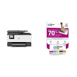HP OfficeJet Pro 9010, Stampante Multifunzione a Getto di Inchiostro, Grigio + Scheda Prepagata per Registrazione al Servizio HP Instant Ink, Card dal Valore di Cinque Euro