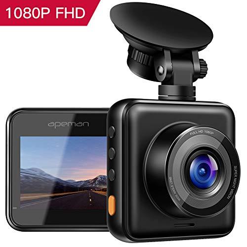 APEMAN Mini in Auto Dash Cam 1080p FHD Auto DVR 170° grandangolare Advanced sensore di rilevamento Wide Dynamic Range G-Sensor della Registrazione in Loop