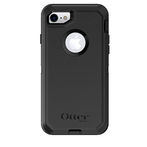 OtterBox Defender Custodia Anti-Caduta Proteziona resistente per Apple iPhone SE 2020/8/7, Nero, Versione senza retail package