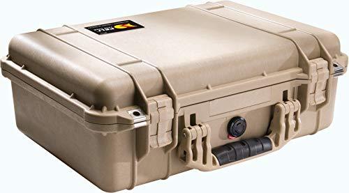 Peli 1500 Valigia antiurto per elettronica e sistemi AV, IP67 Impermeabile e a prova di polvere, Capacit di 19L, Prodotto in Germania, Senza schiuma, Color sabbia