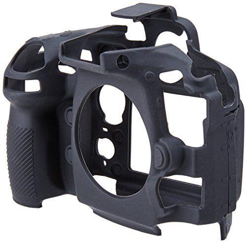 easycover custodia -cover protettiva in silicone per fotocamera nikon d810, colore: nero