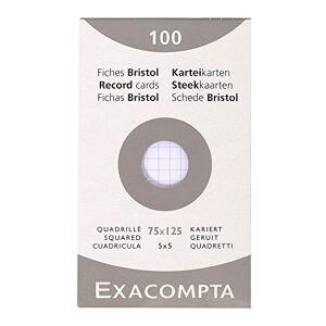 Exacompta 13201E Cartoncini Bristol, 7x12 cm, Bianco