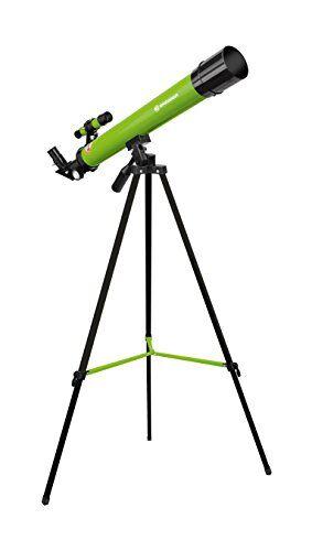 bresser 8850600b4k000 junior lens telescope 50/600 az con treppiede per l'osservazione della luna, pianeti e osservazioni, verde