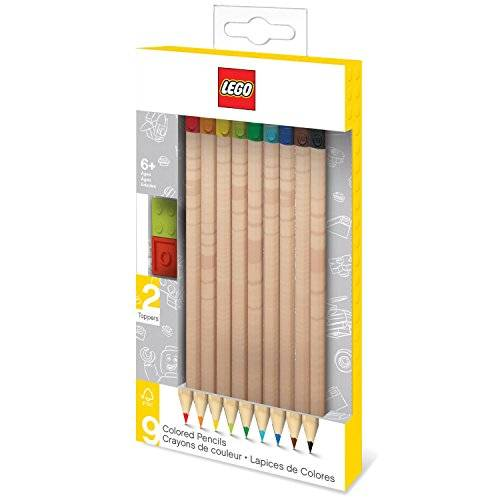 lego - 9 matite colorate con toppers