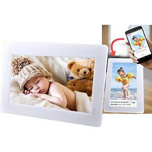 Denver PFF-710 WHITE. Cornice digitale con Wi-Fi. 7 Pollici. Timer. Software fotografico per inviare foto dall'applicazione mobile al fotogramma. Risoluzione: 1024x600