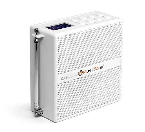musicman soundstation bluetooth bt-x51, con radio dab+/fm, display lcd, due sveglie programmabili, auto tuning, porta microsd, alimentazione a corrente o a batteria ricaricabile