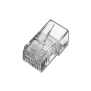 Digitus Link PL818 Connettore Plug RJ45 per Cavo Rete Flessibile, Categoria 5E UTP, 8 Poli, Non Schermato