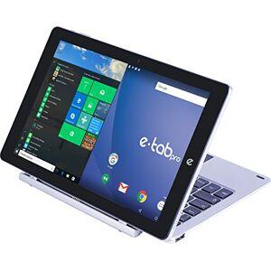 "E-Tab BPL64D3EK/S Tablet PC, Display LCD/LED da 10.1"", Intel Atom Z8350, RAM 4 GB, Argento"