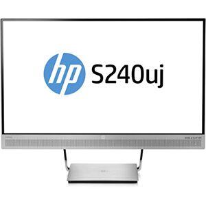 "HP EliteDisplay S240uj LED Display 60,5 cm (23.8"") Wide Quad HD Opaco Nero, Argento"