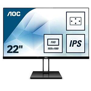 """AOC 22V2Q Monitor LED da 21.5"""" IPS, FHD, 1920 x 1080, Senza Bordi, HDMI, DP, Nero"""
