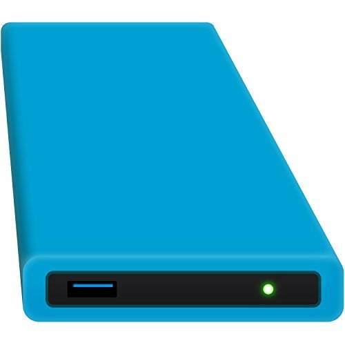 samsung hipdisk hard disk esterno da 63.5 mm, usb 3.0, in alluminio, con cover in silicone, per sata hdd e ssd, antiurto, idrorepellente,250 gb ssd, blu