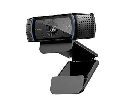 Logitech C920 HD Pro Webcam per Amazon, Videochiamata Full HD 1080p/30fps, Audio Stereo, Correzione della Luce HD, Funziona con Skype, Zoom, FaceTime, Hangouts, PC/Mac/Laptop/Macbook/Tablet, Nero