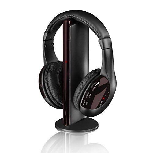 Itek I580165-in-1wireless cuffie, trasmettitore FM–nero