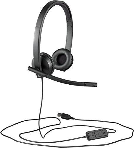 Logitech H570E Cuffie USB Stereo, Nero/Antracite