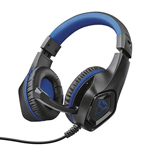 Trust GXT 404B Rana Cuffie Gaming per Playstation 4, Potenti unit Altoparlanti Attive da 40 mm, Blu