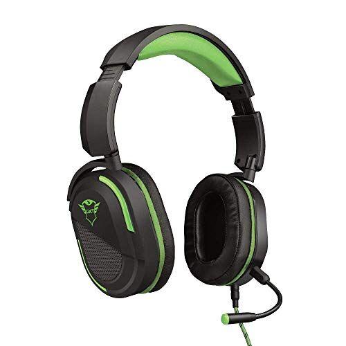 Trust GXT 422G Legion Cuffie gaming per Xbox One, Potenti unit altoparlanti attive da 50 mm, Nero